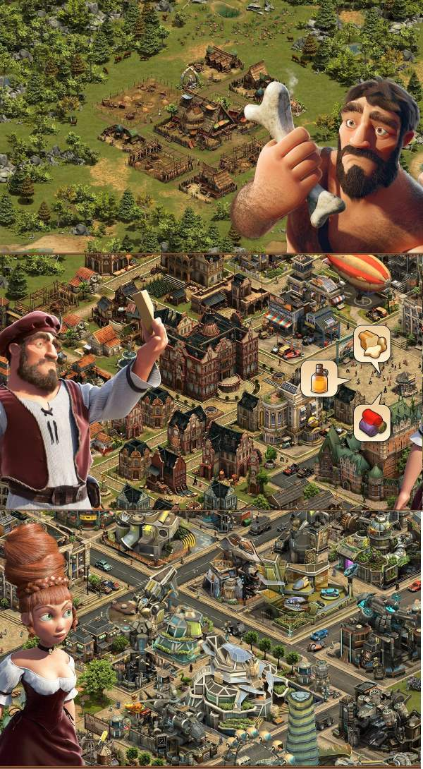 Эпохи игры Forge of Empires